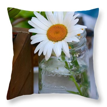 Love In A Jar Throw Pillow