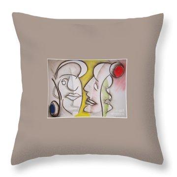 Love In Between Throw Pillow