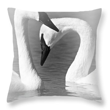 Love In Black And White Throw Pillow