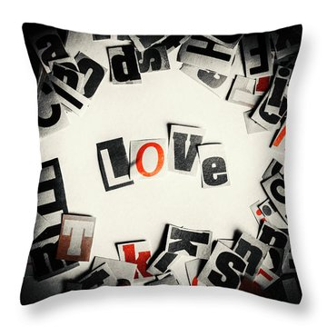Love In Letters Throw Pillow