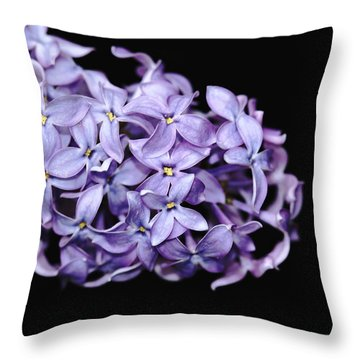 Love In Lilac Throw Pillow by Debbie Oppermann