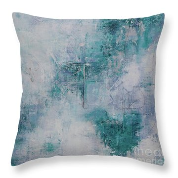 Love In Negative Spaces Throw Pillow