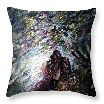 Love In Niagara Fall Throw Pillow