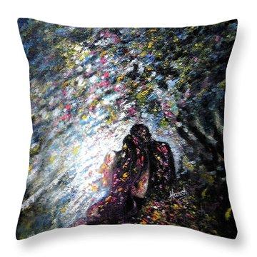 Love In Niagara Fall Throw Pillow