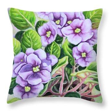Love In Purple 1 Throw Pillow