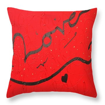 Love In Red By Faraz Throw Pillow