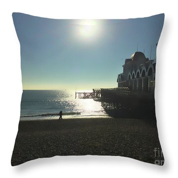 Love In Southsea Throw Pillow by Andrew Middleton