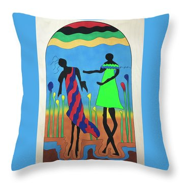 Love In The Reeds Throw Pillow