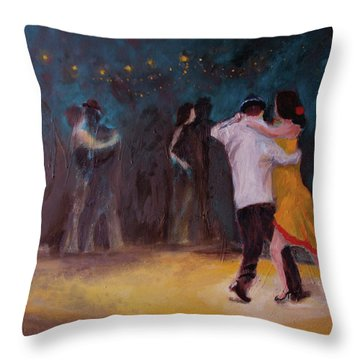 Love In The Spotlight Throw Pillow by Keith Thue