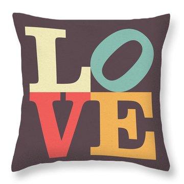 Love In Vintage Throw Pillow by Taylan Apukovska