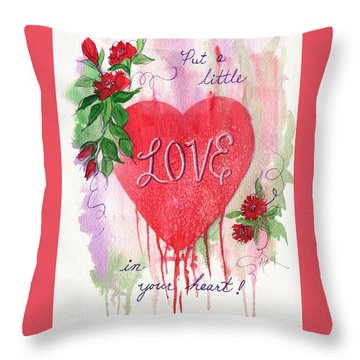 Throw Pillow featuring the painting Love In Your Heart by Marilyn Smith