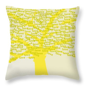 Love Inspiration Tree Throw Pillow by Go Van Kampen