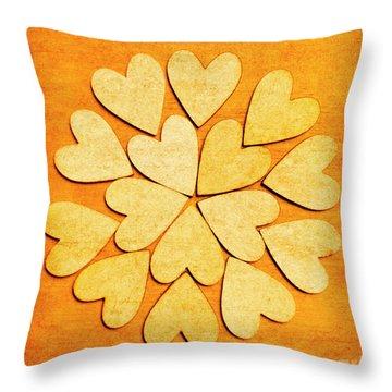 Love Interlinked Throw Pillow