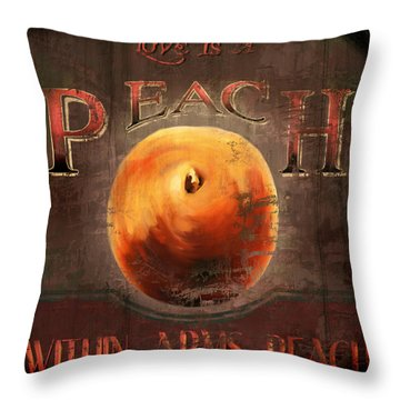 Love Is A Peach Throw Pillow