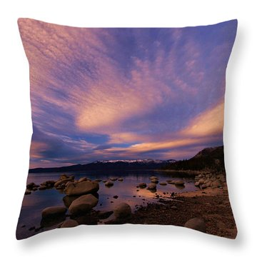 Love Is A Rocky Road Throw Pillow