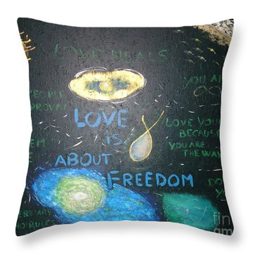 Love Is About Freedom  Throw Pillow by Piercarla Garusi