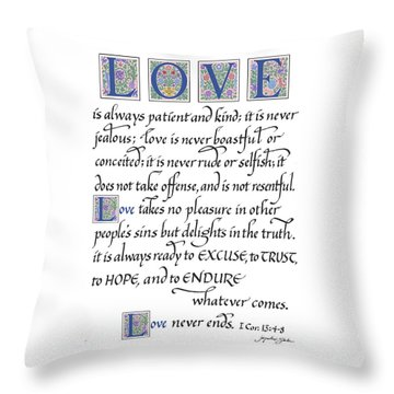 Love Is Always Patient Throw Pillow