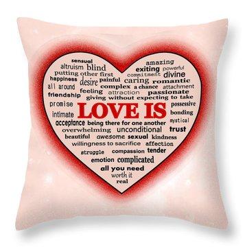 Throw Pillow featuring the digital art Love Is by Anastasiya Malakhova