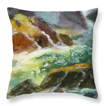 Love Is Cruel Amidst The Raging Sea Throw Pillow