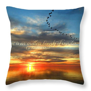 Love Is Endless Wonder Throw Pillow