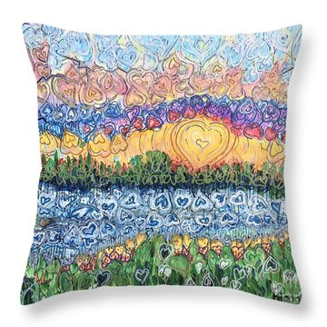 Love Is Everywhere If You Look Throw Pillow