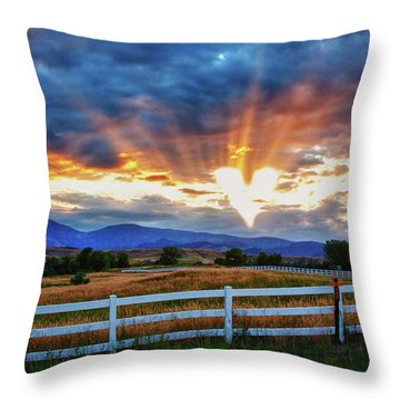 Throw Pillow featuring the photograph Love Is In The Air by James BO Insogna
