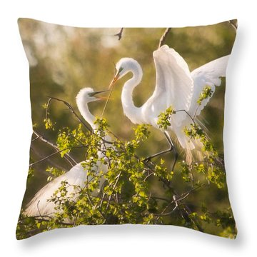 Love Is In The Air Throw Pillow by Kelly Marquardt