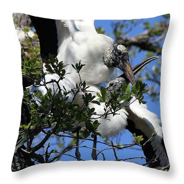 Love Is In The Air Throw Pillow by Lamarre Labadie