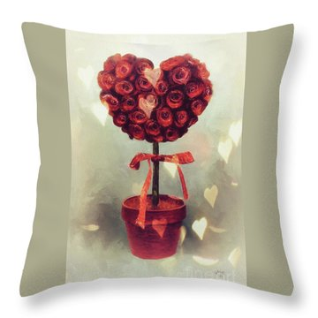 Throw Pillow featuring the digital art Love Is In The Air by Lois Bryan