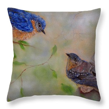 Love Is In The Air Throw Pillow by Loretta Luglio