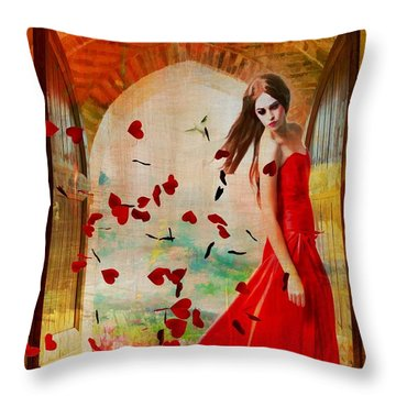 Love Is In The Air Throw Pillow by Riana Van Staden