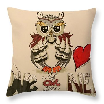 Love Is Owl You Need Throw Pillow