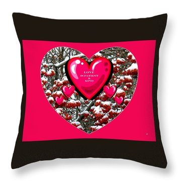 Throw Pillow featuring the digital art Love Is Patient And Kind by Will Borden