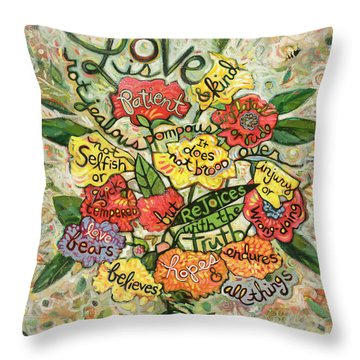 Love Is Patient Throw Pillow