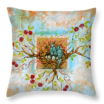 Love Is The Red Thread Throw Pillow by Shiloh Sophia McCloud