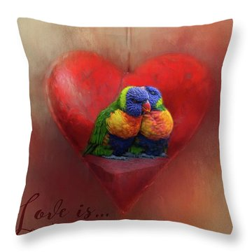 Love Is...being With You Throw Pillow