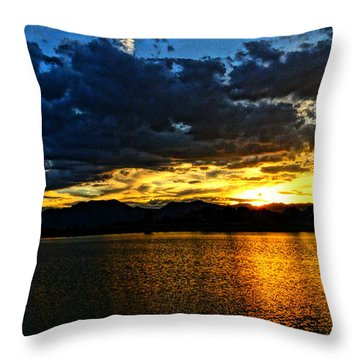 Love Lake Throw Pillow by Eric Dee