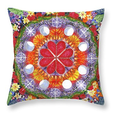 Throw Pillow featuring the painting because Love Lasts for Eternity #1 by Kym Nicolas