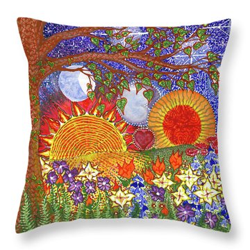 Throw Pillow featuring the painting  Because Love Lasts For Eternity #2 by Kym Nicolas