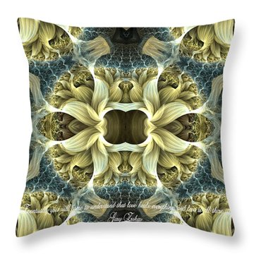 Love Throw Pillow by Lea Wiggins