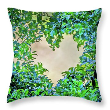 Love Leaves Throw Pillow
