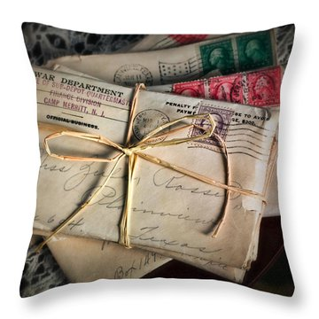 Love Letters Throw Pillow by June Marie Sobrito