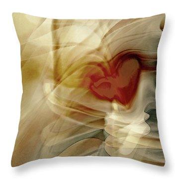 Love  Throw Pillow by Linda Sannuti