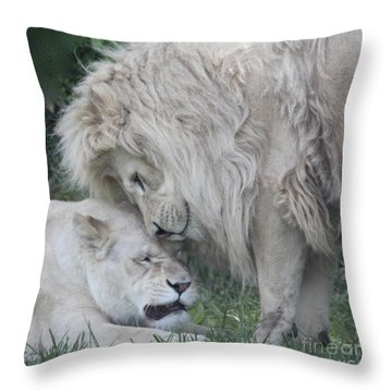 Love Lions Throw Pillow