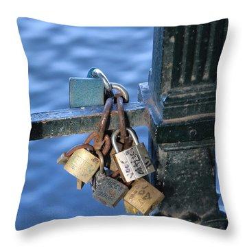 Love Lock Throw Pillow