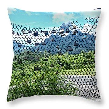 Love Locks In Moorea Throw Pillow