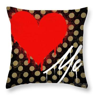 Love Me II Throw Pillow