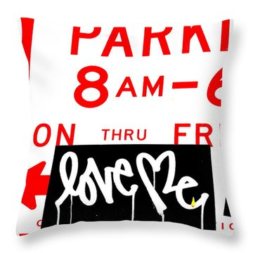 Love Me In Nyc Between 8m And 6pm  Throw Pillow