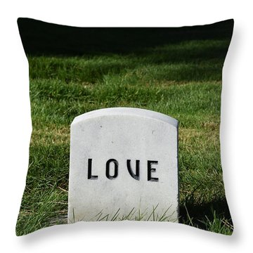 Love Monument Throw Pillow