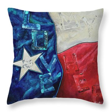 Throw Pillow featuring the painting Love My Heb by Patti Schermerhorn